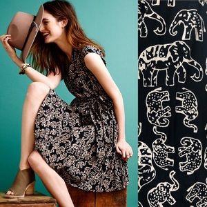 Anthropologie Maeve elephant noronha wrap dress XS